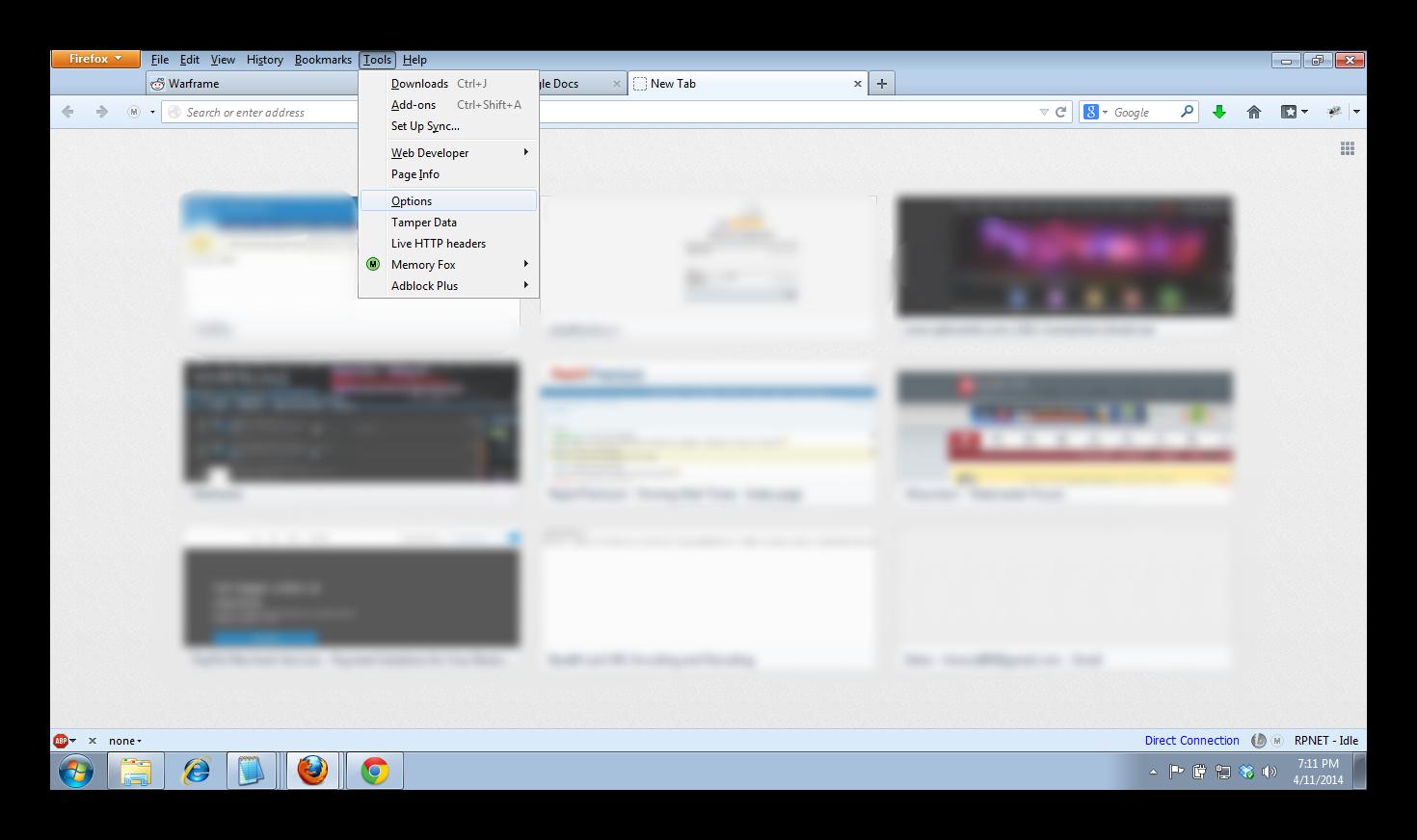 Firefox Proxy Shot 1